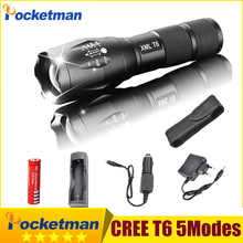 2018 HOT High Power 5 Modes LED Flashlight CREE XM-T6 3800lm flash light Torch Zoomable Lantern Tactical For 18650 or 3xAAA z934