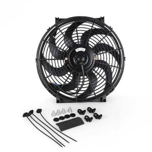 Image 3 - Universal 14 Inch  Car Water Oil Cooler DC12V 90W Pull & Push bend Black Blade Electric Cooling Radiator Fan For Car Kart Buggy