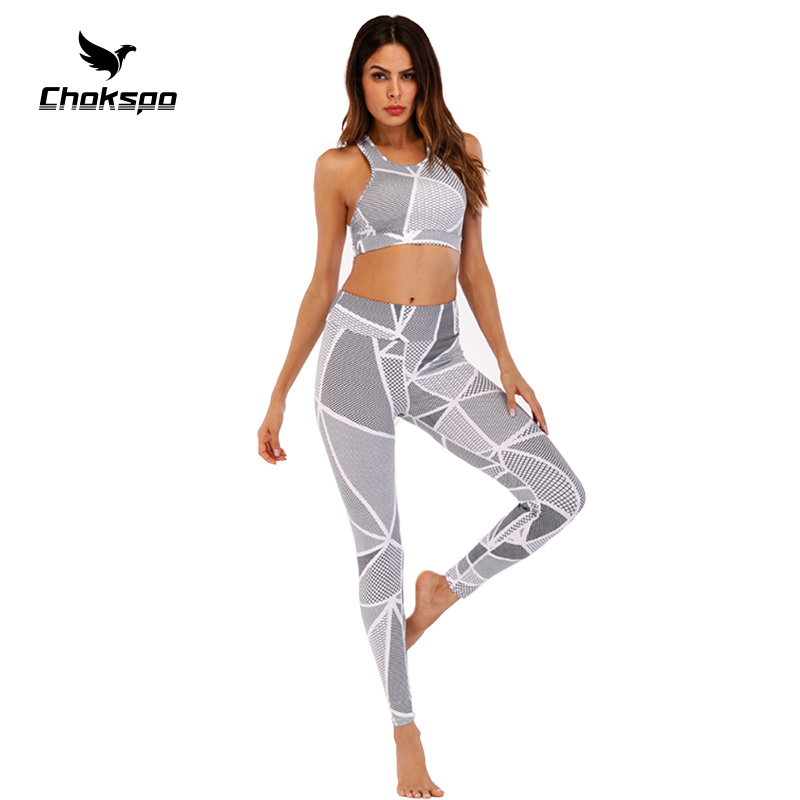 Yoga Set Aerobics Clothes For Ladies Clothes Yoga Horny Leggins Medias Ladies Fitness center Garments Mesh Yoga Sports activities For Justocorp Fitness center Yoga Units, Low cost Yoga Units,...