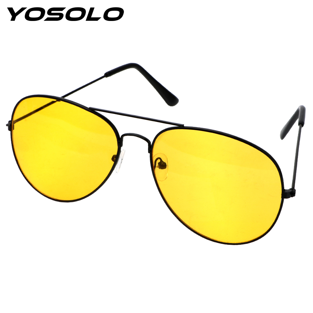 YOSOLO Copper Alloy Driving Glasses Car Drivers Night Vision Goggles Anti-glare Polarizer Sunglasses