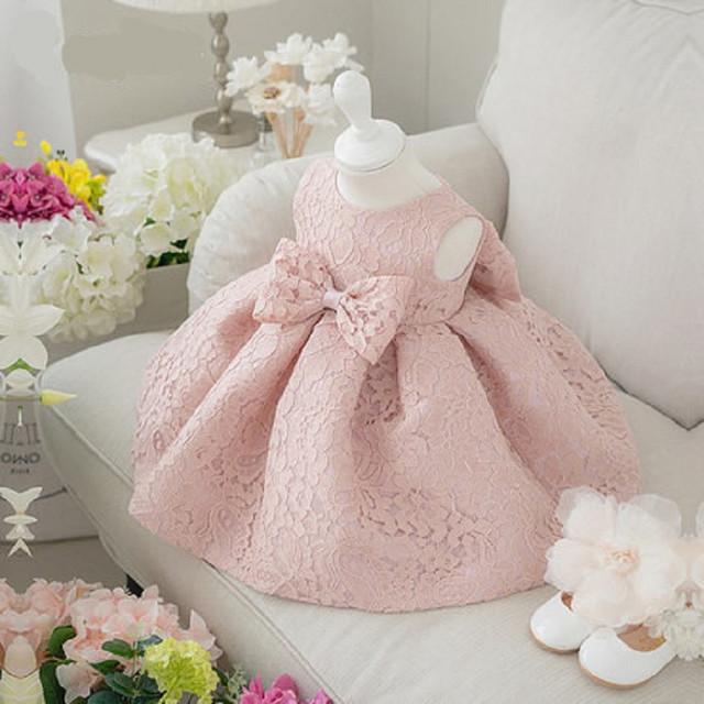 Alta qualidade baby girl dress batismo dress para a menina infantil 1 anos de aniversário chirstening dress for baby girl dress para infantil