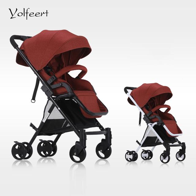 YOLFEERT Alta Vista Barato Carrinho de Bebê Carrinho De Bebê Leve Carrinho de Criança Dobrável Roda-cadeira Carrinho Carrinhos Carrinhos China Carrinho de Bebé