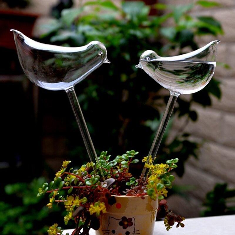 இ2 Pcslot Dekorasi Rumah Burung Bentuk Taman Tanaman Pot Pot Bunga