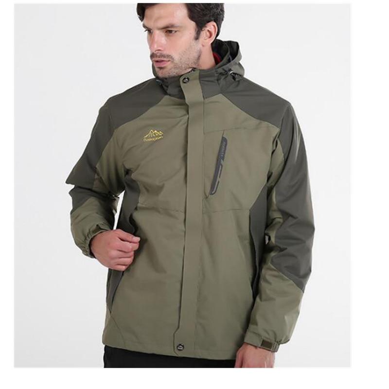 Winter Outdoor Waterproof Jacket Men 3 in 1 Windproof Softshell Jacket Women Outdoor font b Hiking