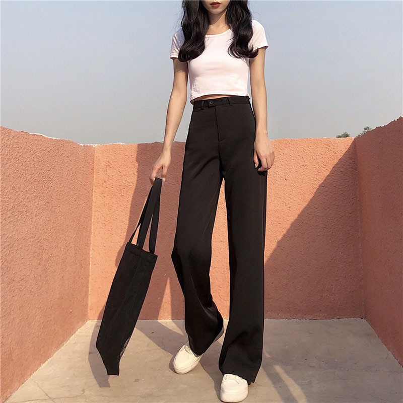 2019 Women Pants Fashion High Waist Long Women Pants Casual Loose Female Trouser