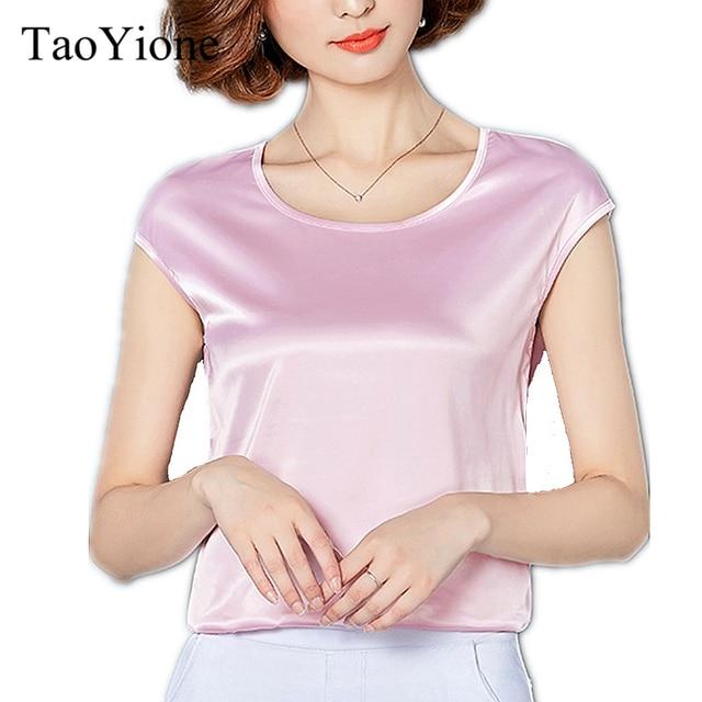 9c3148122163 Women Blouses 2019 Summer Blouse Shirt Good Imitation silk Sexy White Red  Casual Tops Elegant Party Girls Shirt Plus Size Blusas