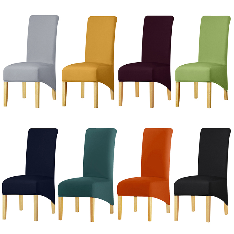 XL Size Long Back King Back Chair Cover Spandex Fabric Chair Covers Restaurant Hotel Party Banquet Seat Slipcovers
