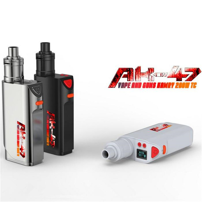 Orginal Kamry AK-47 200W TC Box Mod Electronic Cigarette Delicate casting fit 510 thread RDA RBA Tank Big SMOKE smoant battlestar 200w tc mod electronic cigarette mods vaporizer e cigarette vape mech box mod for 510 thread atomizer x2093