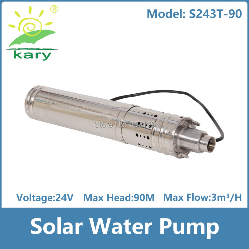 цена на dc 24v lift 90m 3000L per hour flow rater solar water pump for deep well and farm water supply