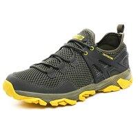 2019 Summer Trekking Sneakers For Men Outdoor Walking Mens Shoe Mesh Breathable Sport Mountain Shoes Rubber Sole Climbing Shoe