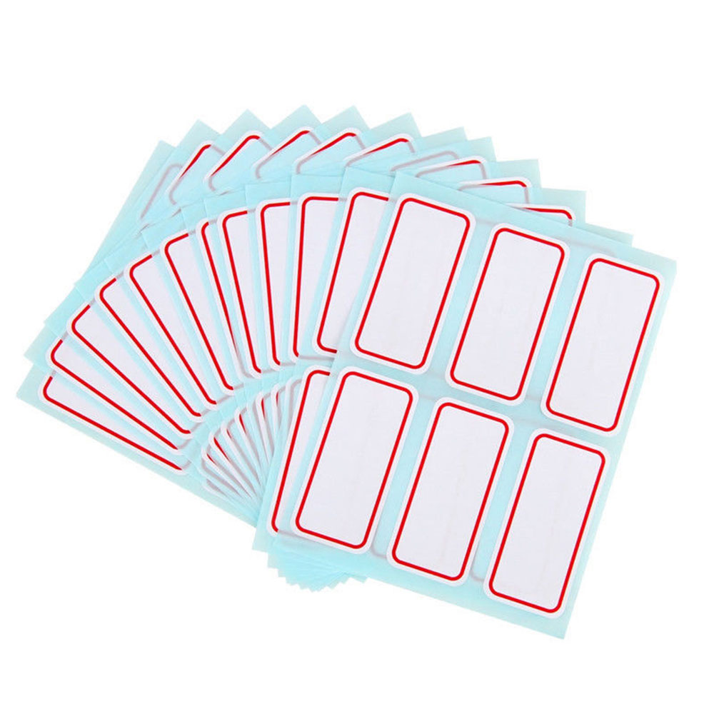 72pcs /Pack White Self Adhesive Stickers Name Label Stickers Student Stationery School Office Supply 2.5*5.3cm