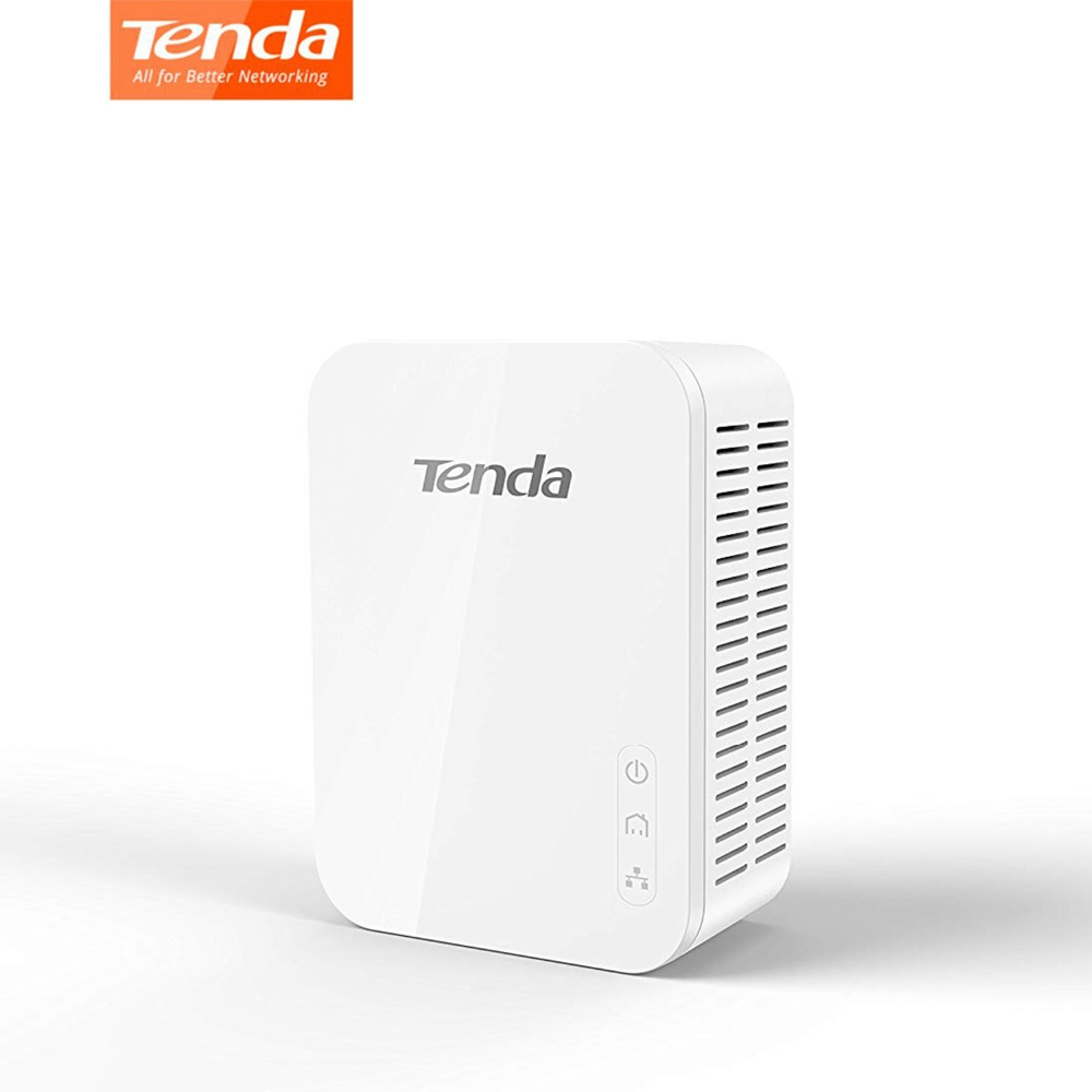 1piece Tenda PH3 1000Mbps Powerline Network Adapter 1-Port Gigabit AV1000 Ethernet PLC High Compatible With IPTV, Homeplug AV2