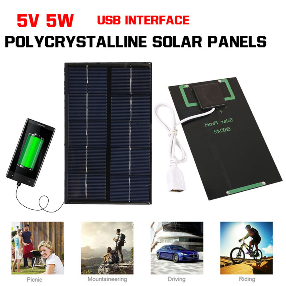 все цены на MVpower Mini Fast Charger USB Solar Panel 5W 5V Solar Generator Portable Climbing Solar Charger Pane USB Port Outdoor