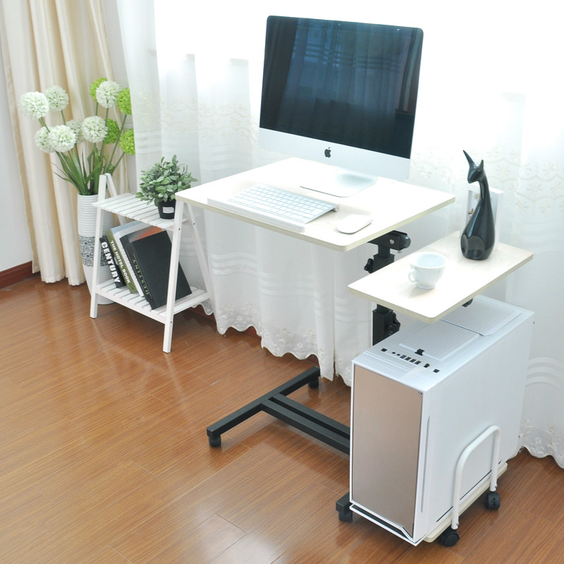 Computer desk computer desk with folding e and simple household mobile desktop bed 250616 computer desk and desk style modern simple desk with bookcase desk simple table solder edge e1 grade sheet material