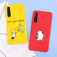 3D Cat Cartoon Patterned Case For Huawei P20 lite pro P Smart soft Back Cover Phone nova 3e case