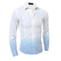 Slim Men S Shirt Long Sleeve Cotton One Piece Dress Casual Spring Fall Men S Social