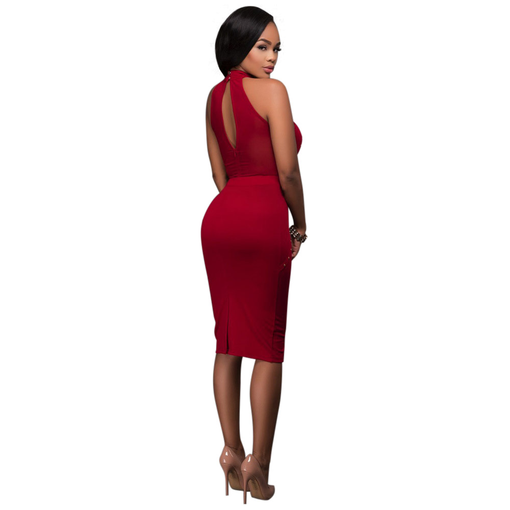 OKAYOASIS Real Photo Top Quality Women Off Shoulder Sexy Dress 2017 New  Vestido Mesh Bandage Bodycon Sexy Club Party Dresses-in Dresses from Women s  ... 8c3ba65e2652