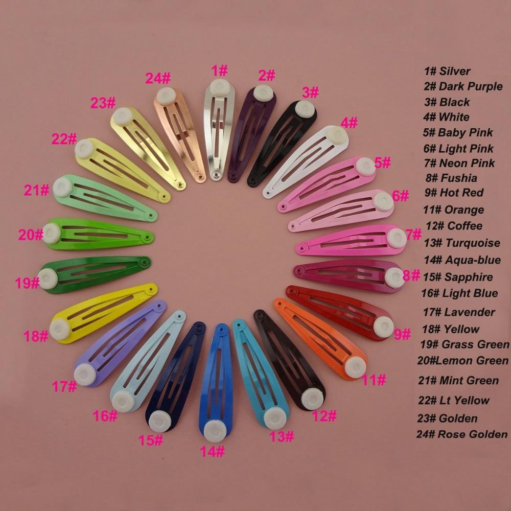 10 шт. 5,0 см металлические заколки для волос DIY детский бант для волос простые заколки без никеля без свинца