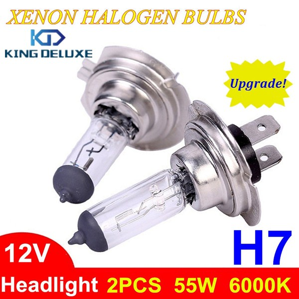 купить 2pcs High Quality H7 12V 55W Car Light Source Headlight Auto Halogen Xenon Lamp Bulbs #H755-S недорого