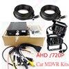 4 Channel H 264 960H SD Car Vehicle Mobile DVR Surveillance System AHD MDVR 2pcs Waterproof