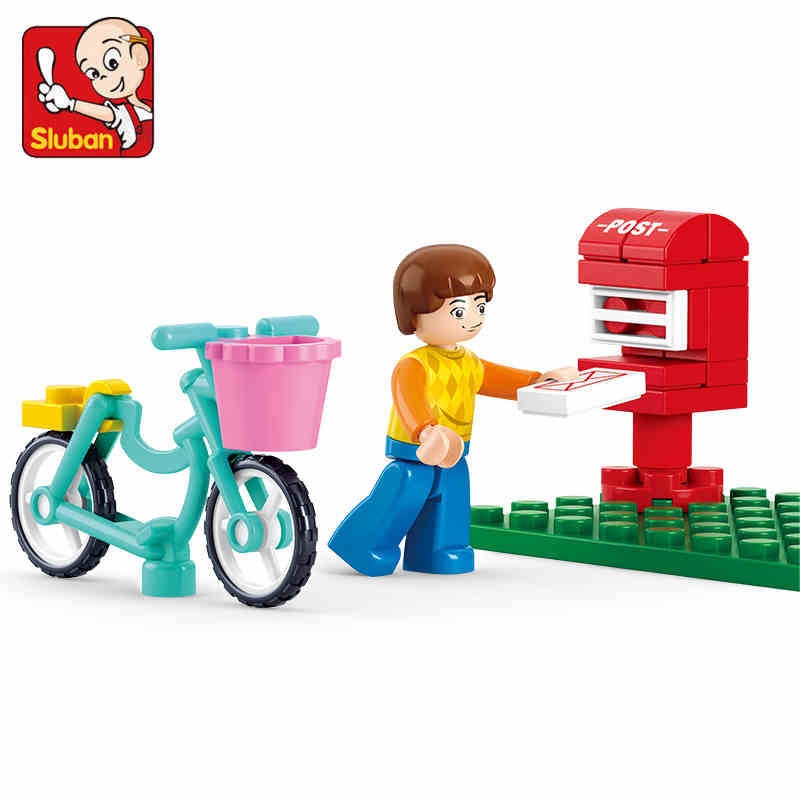 29pcs Hot Sale Sluban Postal Send a Letter Building Blocks Educational Toys for Children Compatible with legooe