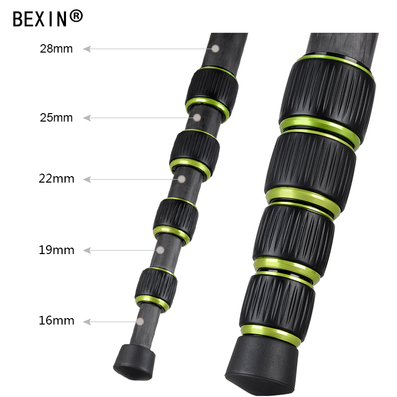 BEXIN Fotografía Portátil de fibra de carbono Trípode de cámara - Cámara y foto - foto 5