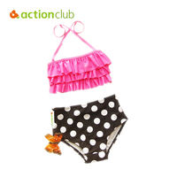 Actionclub çocuk mayo 2016 marka yeni kadın mayo yaz çocuk üç adet set kız mayo plaj bikinis kw002