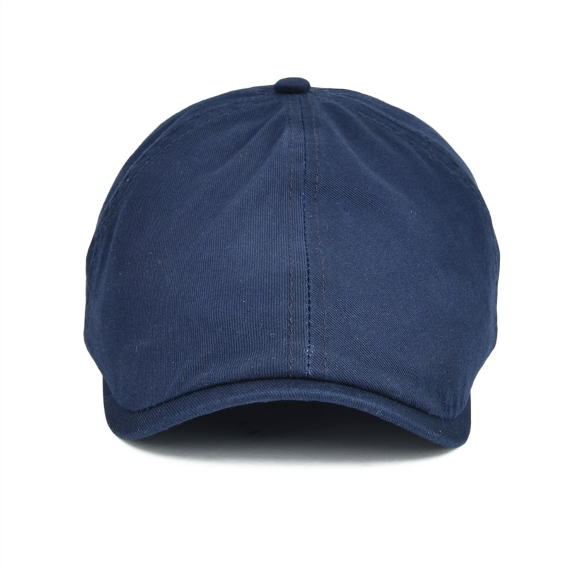 2019 VOBOOM Twill Cotton Ivy Flat Cap Men Women Navy Blue Casual ... 0b6771899627