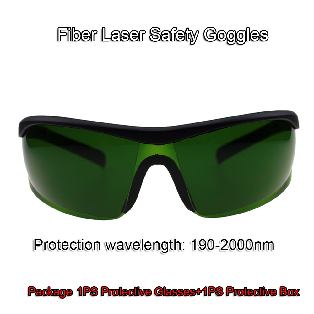 Free Shipping Fiber Laser Safety Goggles Shield Protection Laser Safety Glasses For Fiber YAG Laser Cutting Engraving Machine single lamp laser cavity ah zh 120d reflector cavity length 120mm yag laser welding machine use for yag laser cutting machine
