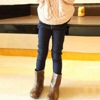 Kinderkleidung 2017 frühling und herbst neue mädchen jeans Koreanische kinder füße hosen hohe elastische enge elastische hose