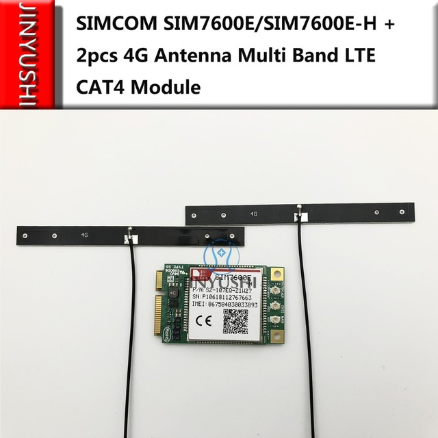 US $44 6 5% OFF|JINYUSHI for SIMCOM SIM7600E/SIM7600E H + 2pcs 4G antenna  Multi Band LTE Module CAT4 module-in Modems from Computer & Office on