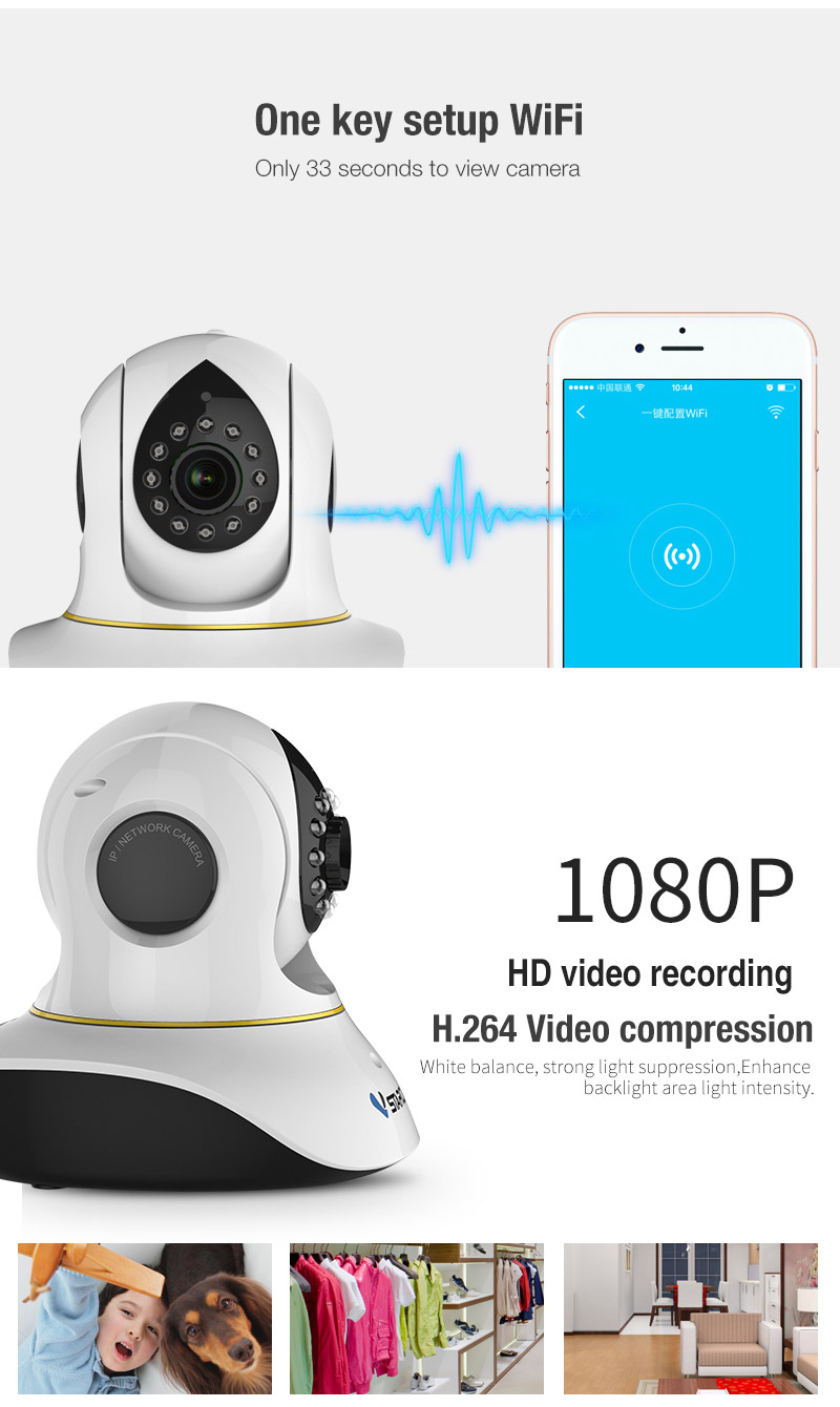 VStarcam C38S full HD 1080P Wifi IP Camera P2P ONVIF IR Cut Wireless Indoor P/T IP Camera two-way Audio with motion detector howell wireless security hd 960p wifi ip camera p2p pan tilt motion detection video baby monitor 2 way audio and ir night vision