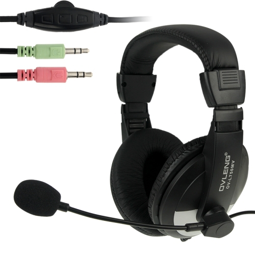 OVLENG OV-L750MV Universal Stereo Go Pro Headphones with Mic and Volume Control Key for Computer Laptop PC Gaming Headset пена монтажная mastertex all season 750 pro всесезонная