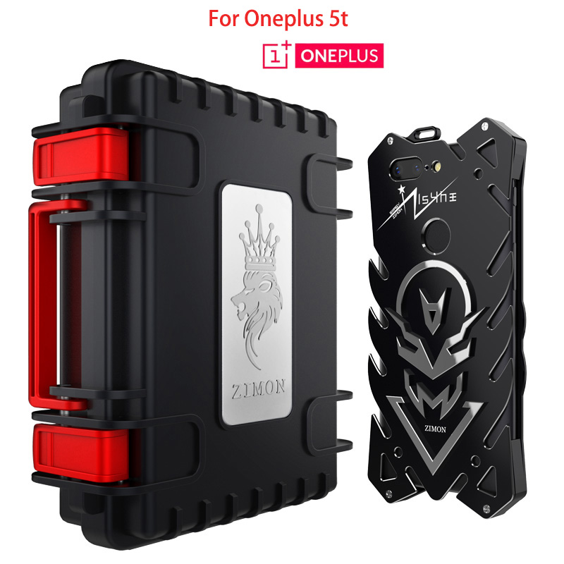 Oneplus 5t Case 6.01 inch Zimon THOR IRONMAN Metal Armor Case for Oneplus 5t Shockproof Aluminum Cover