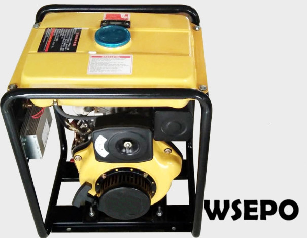 WSE-5KW Diesel DC Battery Charging Generator Applied for Car/Truck Air Conditioner, 24V AC Generator Set with Manual/Estart zhejiang boyard r134a 24v 12v dc air conditioner compressor kfb135z24 for truck sleeper air conditioner