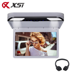 XST 13.3 Inch Car Roof Mount Ceiling Monitor 1920x1080 Touch Button Screen DVD Player USB/SD/HDMI/IR/FM Transmitter/Speaker/Game