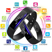 цена на Men's Women Smart Wristbands Fitness Tracker Smart Bracelet Pedometer Bluetooth Smartband Waterproof Sleep Monitor Wrist Watch