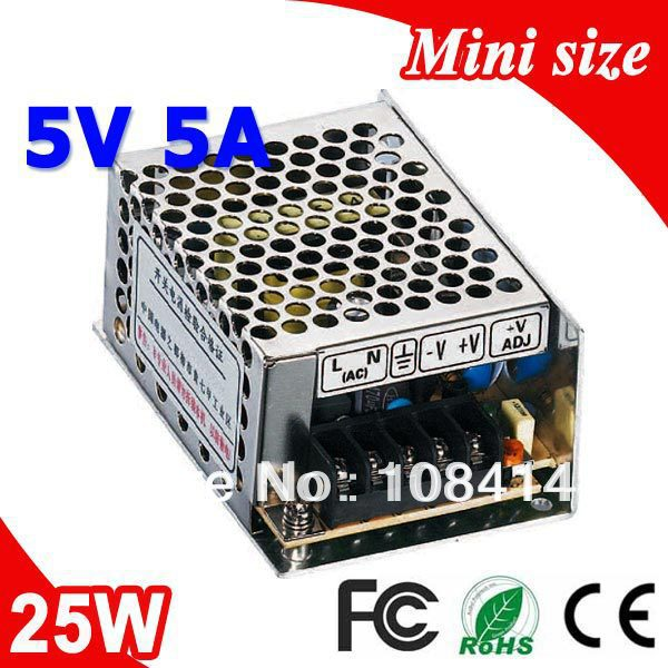 MS-25-5 25W 5V 5A Small Volume Single Output Switching power supply for LED Strip light