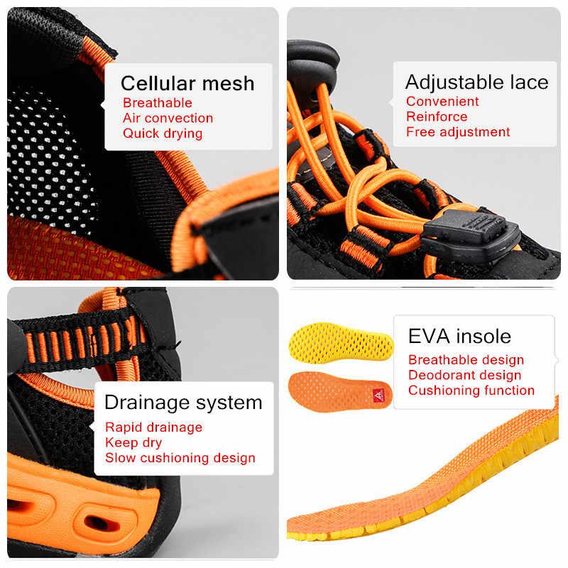 Yaz moda sandalet erkekler açık deri örgü plaj nefes erkek ayakkabı lüks marka giyim Casual erkek ayakkabıları büyük boy 36- 45