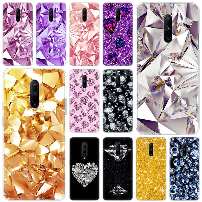 Hot Diamond Bling Soft Silicone Fashion Transparent Case For font b OnePlus b font font b