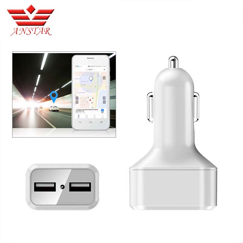 ANSTAR Mini Car GPS Tracker Dual USB Car Charger WIFI Tracking Device Remote Listening GSM GPRS Tracking Device SIM Card Charger