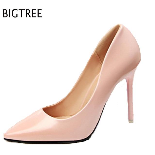 Envío gratis zapatos de mujer mujeres bombas chaussure femme zapatos mujer tacon alto sapato feminino zapatos de tacón alto 48