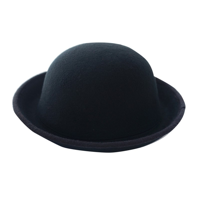 Women Men Fashion Vintage Bowler Top Hats Nice Roll Brim Derby Fedora Dome Cap T55