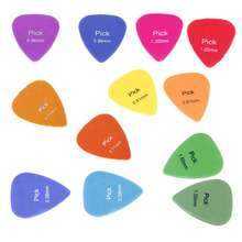 12x Acoustic Electric Guitar Picks Plectrums Assorted Colours 6 Thickness New