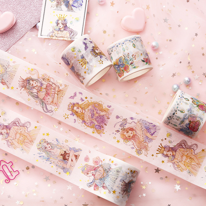 Beautiful Dream Of Princess Decorative Golding Washi Tape DIY Scrapbooking Masking Tape School Office Supply