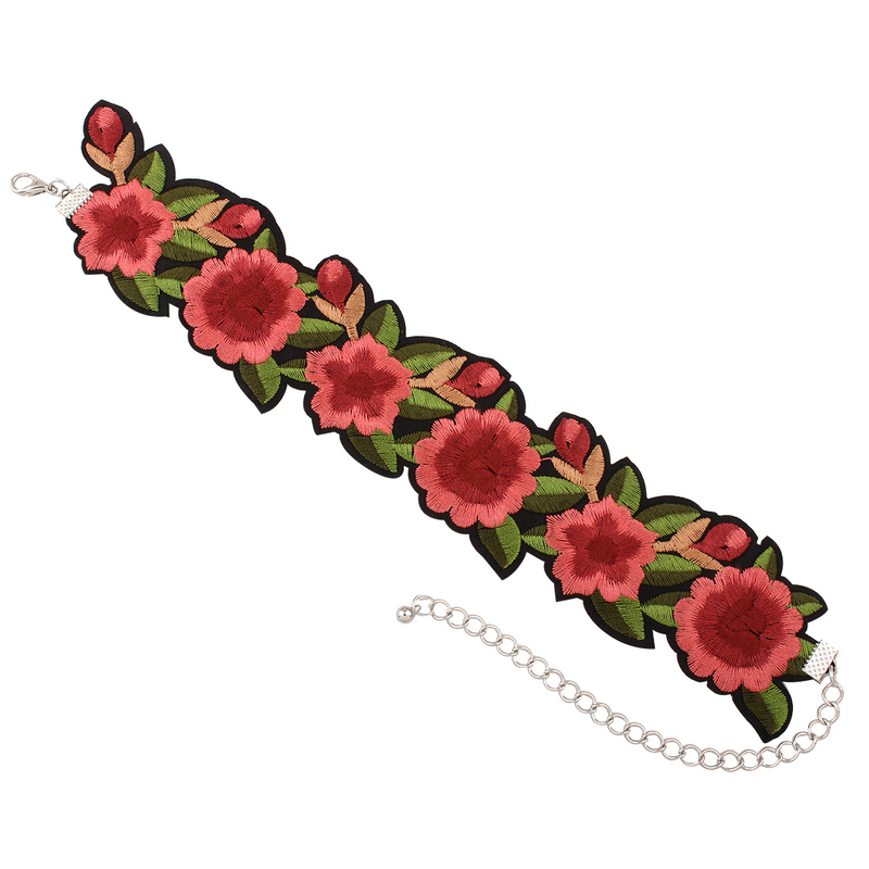 HTB1SLtcPFXXXXaiXpXXq6xXFXXXG Tattoo Style Embroidered Flower Fashion Choker For Women - 2 Styles
