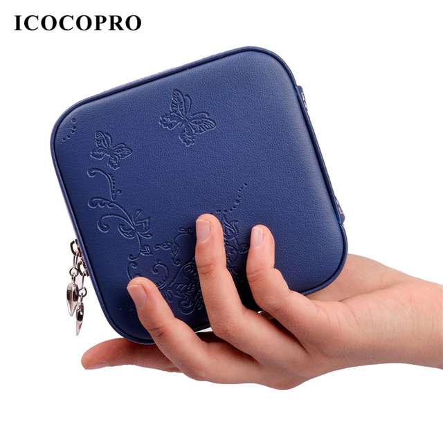 Icocopro Travel Jewelry Organizer Ring Earring Holder Gift Box Packaging Display Storage Case Bo