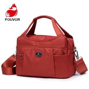 Image 1 - Fouvor ファッション女性バッグ女性のハンドバッグショルダーの女性のメッセンジャーバッグ高級デザイナークロスボディバッグ女性のためのトートバッグ