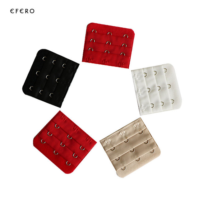 3bcecf37df0e6 3pcs Soft Bra Extension 3 Rows 3 Hooks Clasp Straps Women Bra Strap  Extender Brassiere Buckle Sewing Tool Intimates Accessories
