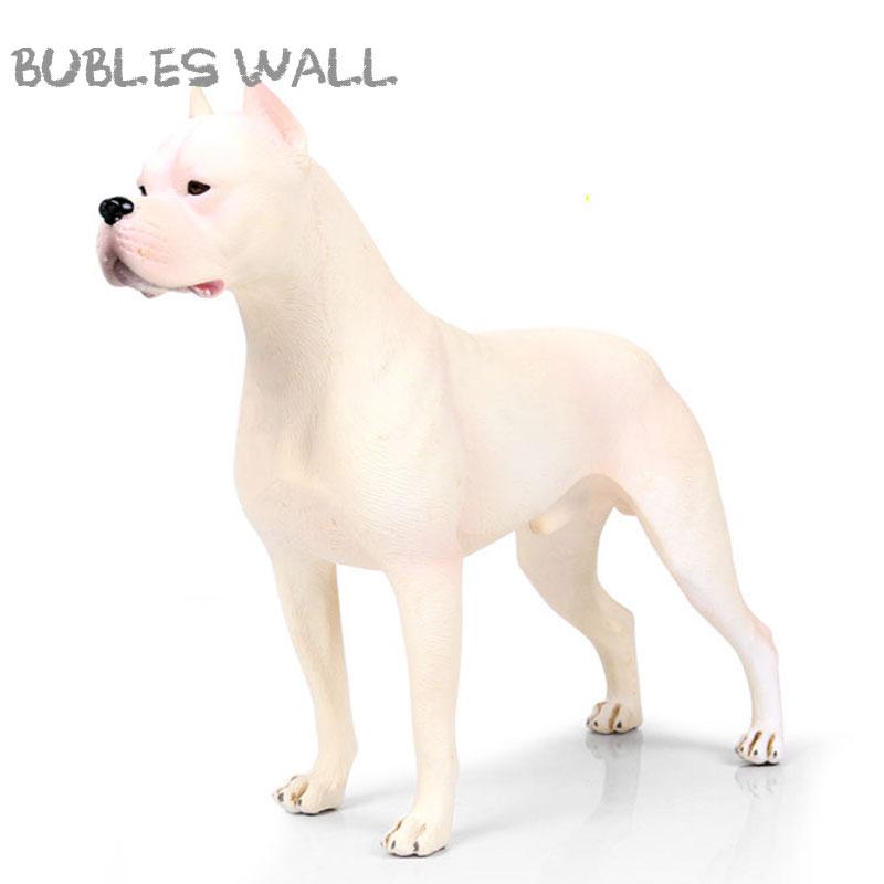 21 CM Large Size Dogo Argentino Simulation Animal Model Action Figure Toys Children Kids Gift Collection Dog Model Figures
